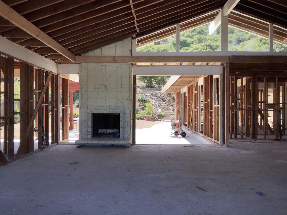interior demo / view towards rear landscape