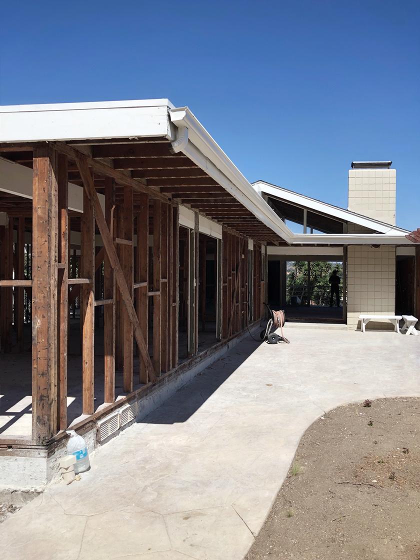 exterior demo / rear yard