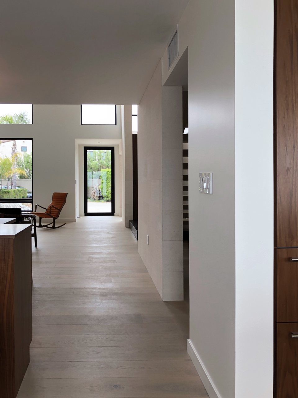 double height addition at entry / view from family room
