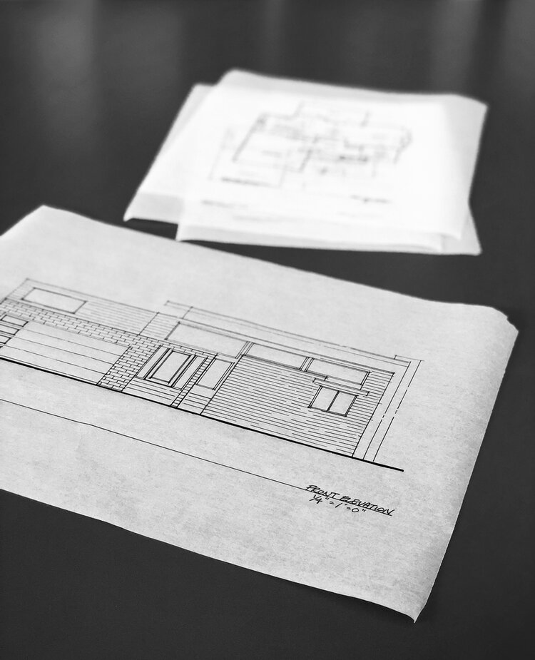 front elevation / schematic design drawings
