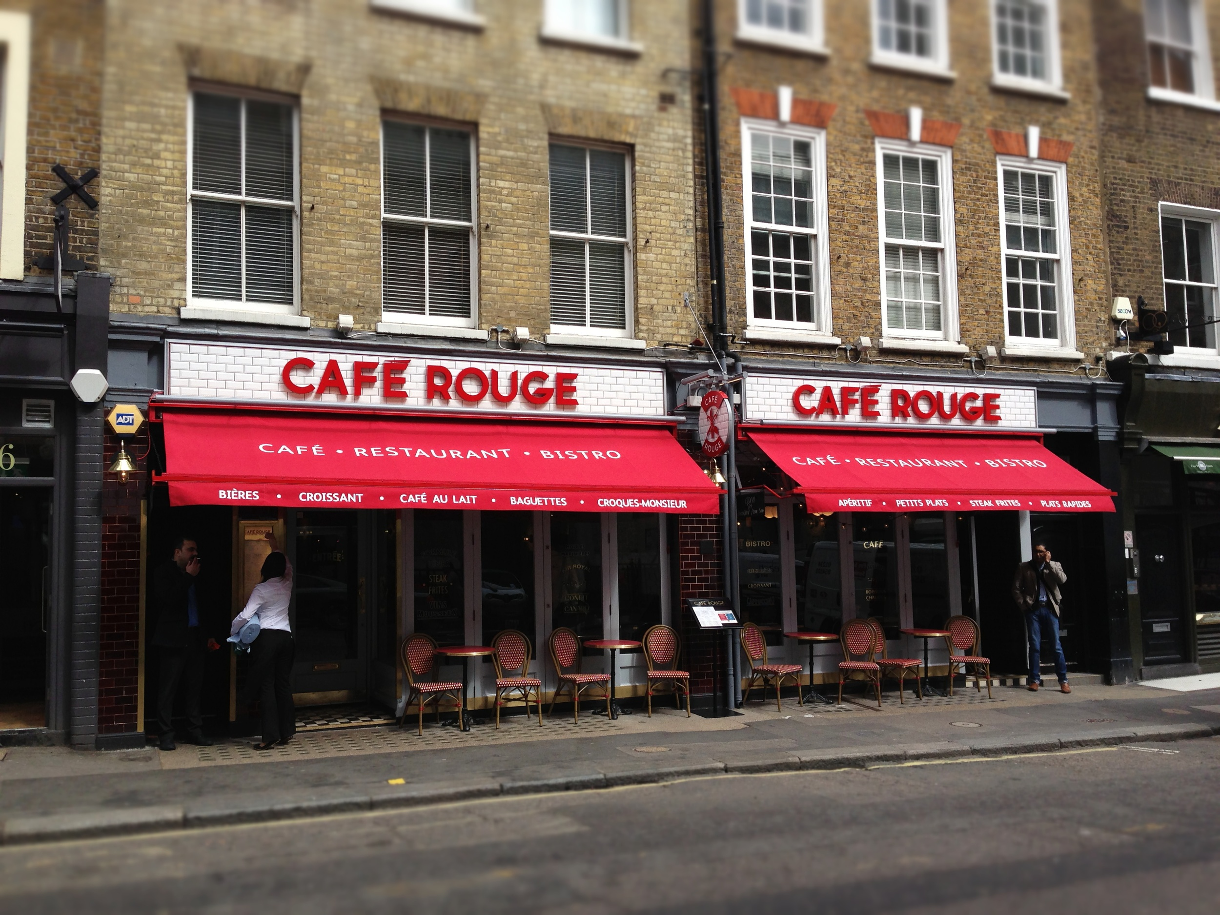 The View of Cafe Rouge from Balthazar