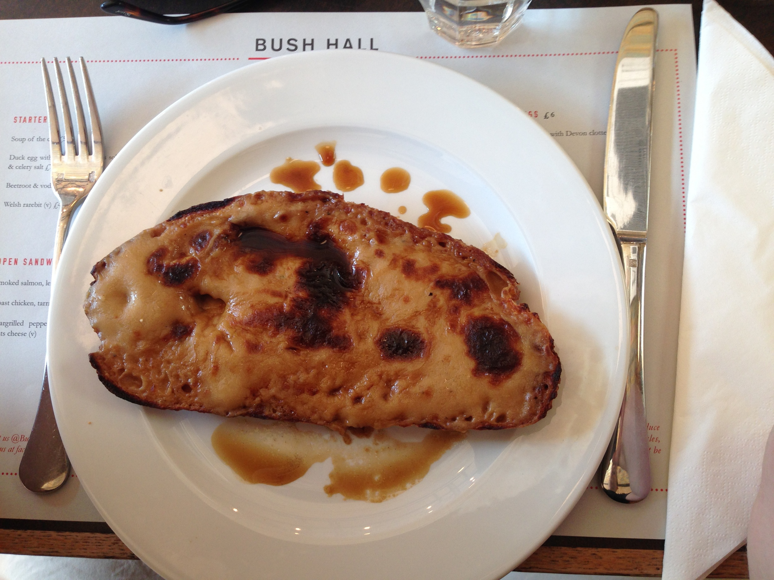 Bush Hall Rarebit (£4)