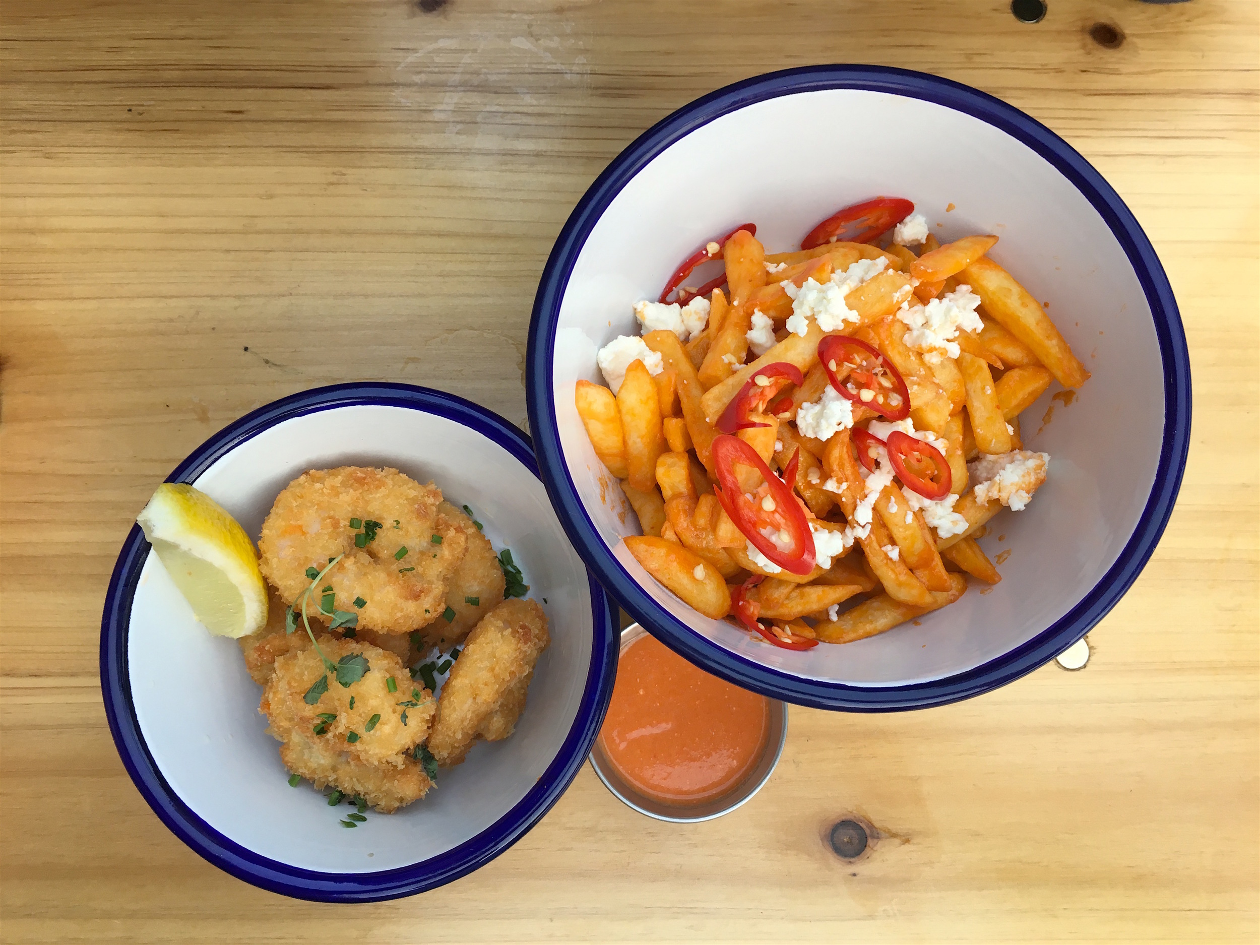Buffalo Shrimp & Furious Fries