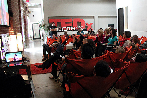 Watching TEDWomen in 2013 at The Urban Hive.