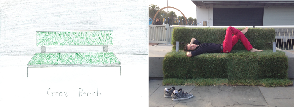 Grass Bench  - The first Urban Imagination concept turned into reality! Created for the San Francisco Exploratorium's night of Civic Hacking.