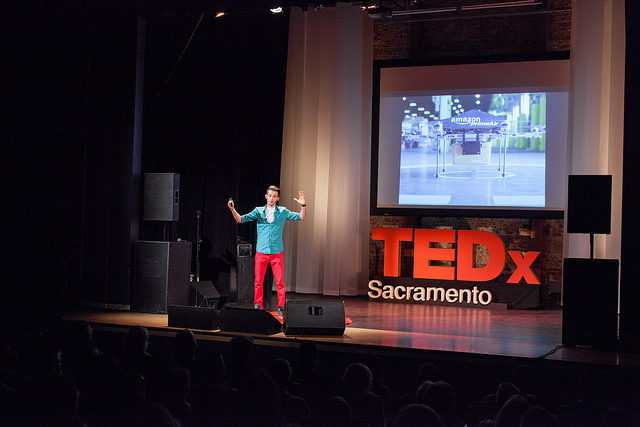 "George Zisiadis at the TEDxSacramentoSalon, ""This Changes Everything: City,"" on March 7, 2015."
