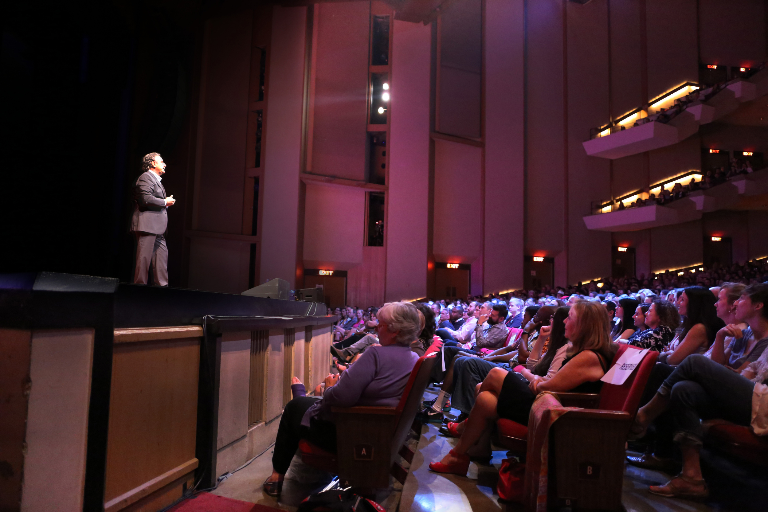 """TEDxSacramento speaker Dr. Ernesto Sirolli delivering the first talk at TEDxSacramento2015 """"THIS Changes EVERYTHING"""" on June 12, 2015. Photo: Phil America."""