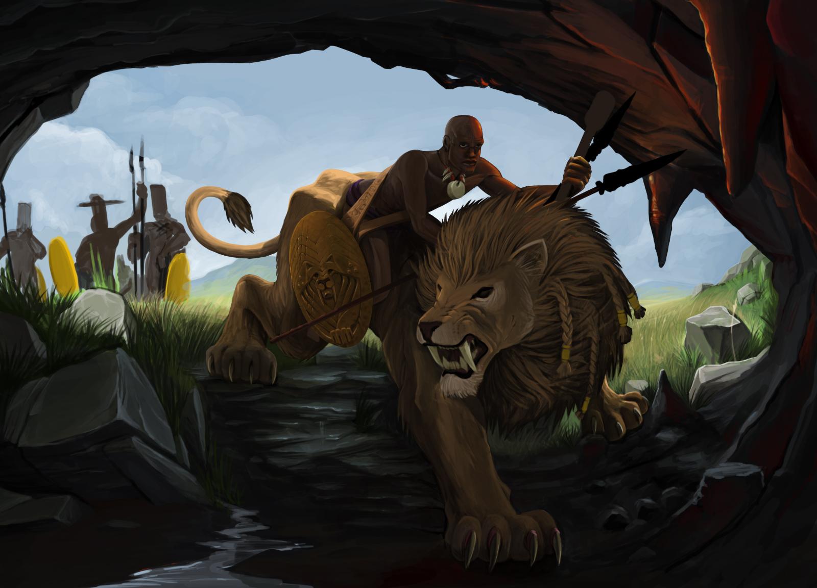 Lion Rider WIP 1