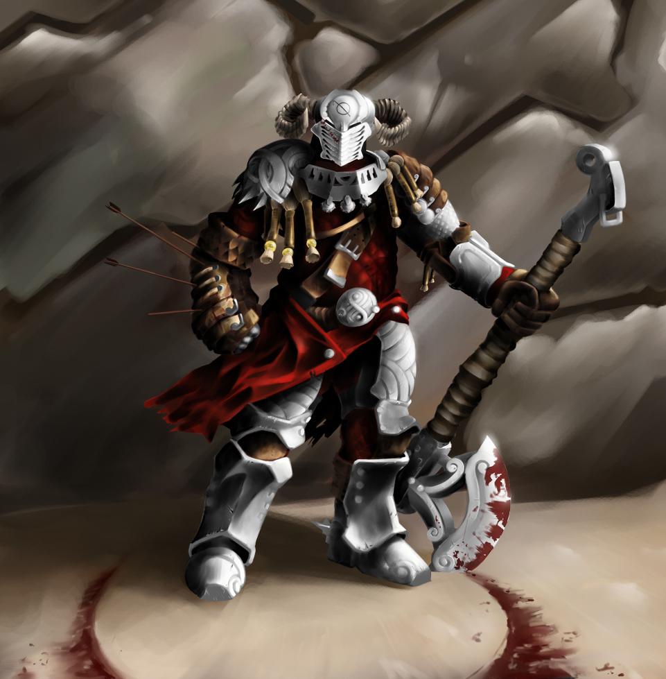 Fear my falconer's arm shield!
