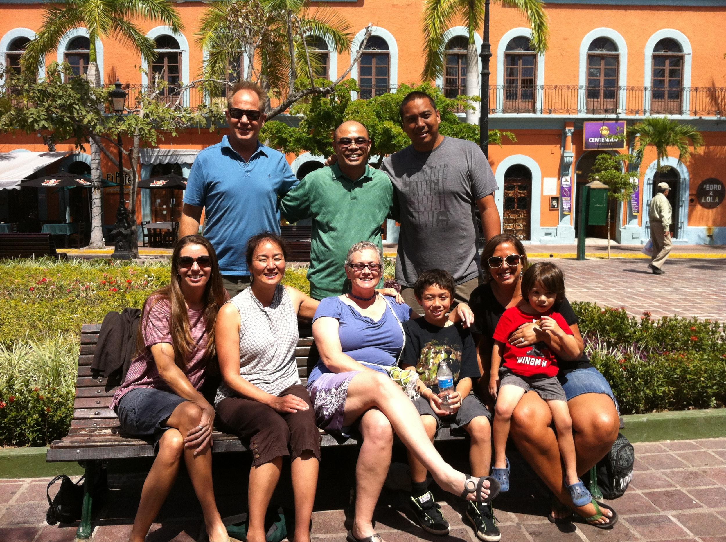 Group photo in the Plazuela Machado