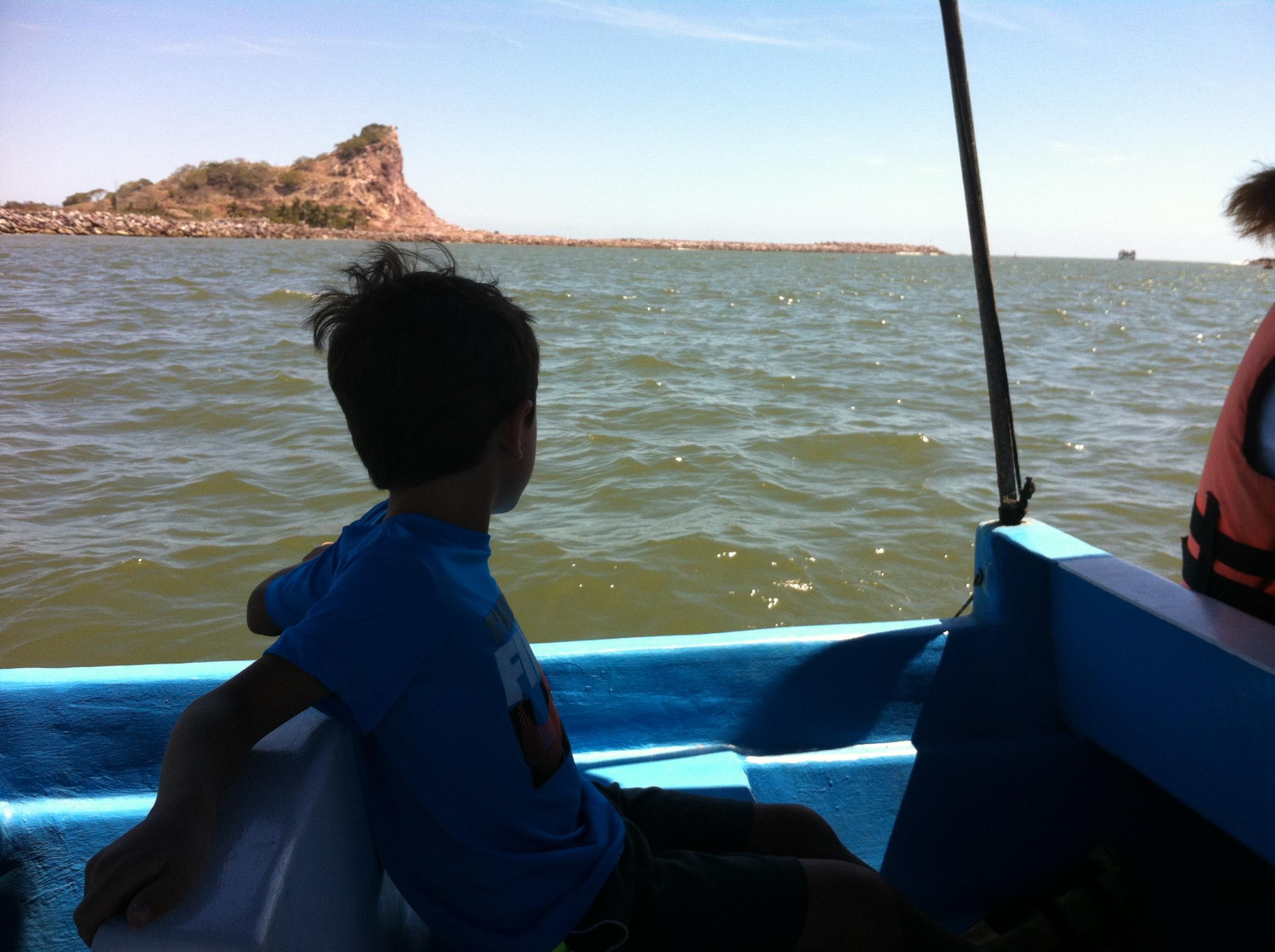Koa cruising across the harbor in Mazatlan
