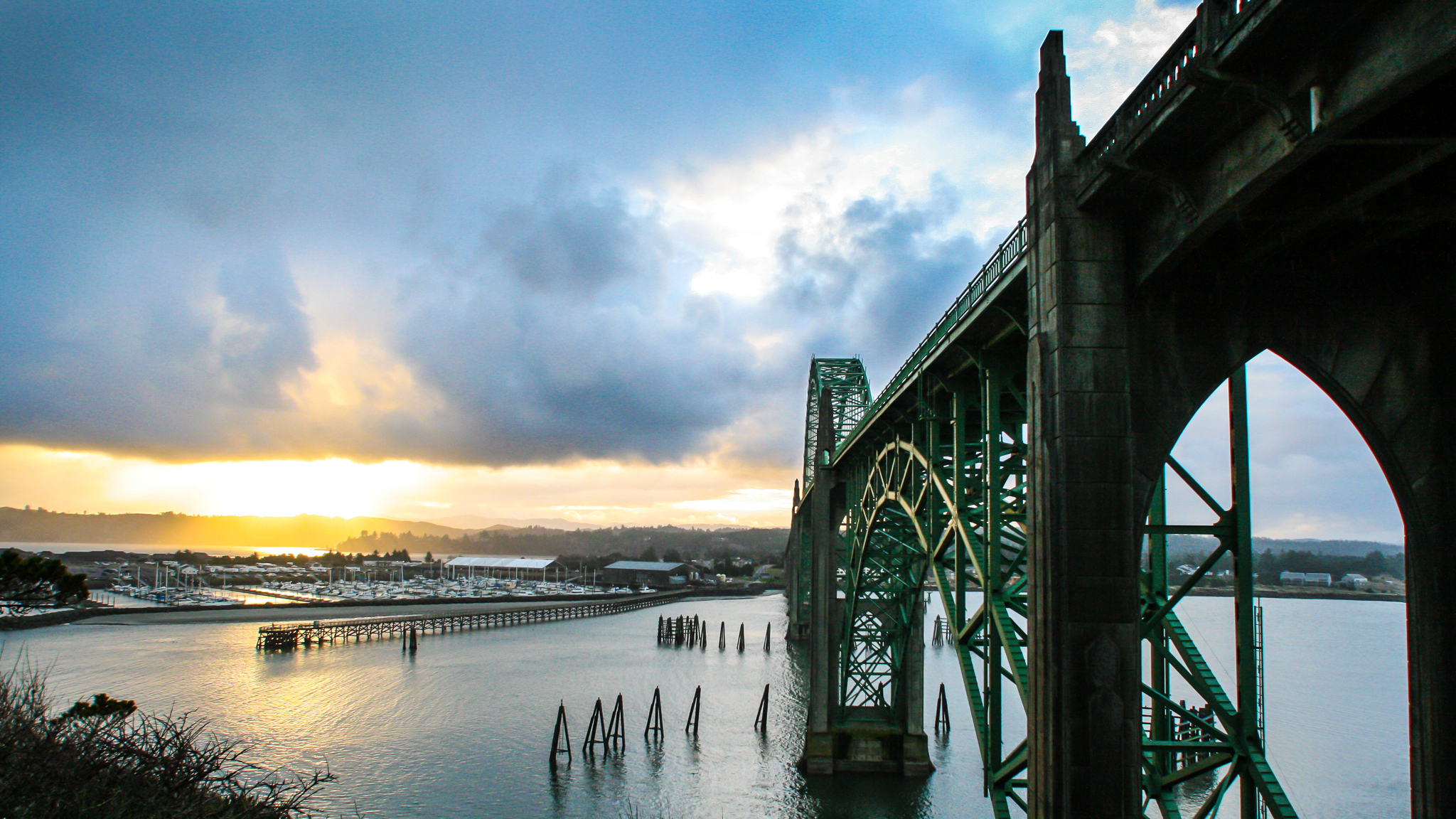 Pete Wright — Newport, and bridge they built there.jpg