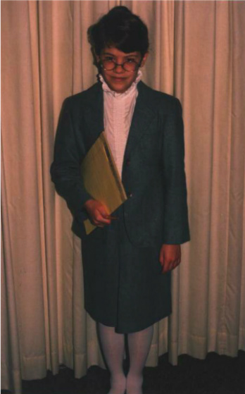 "(This young author, dressed for ""career day"" circa 1990)"