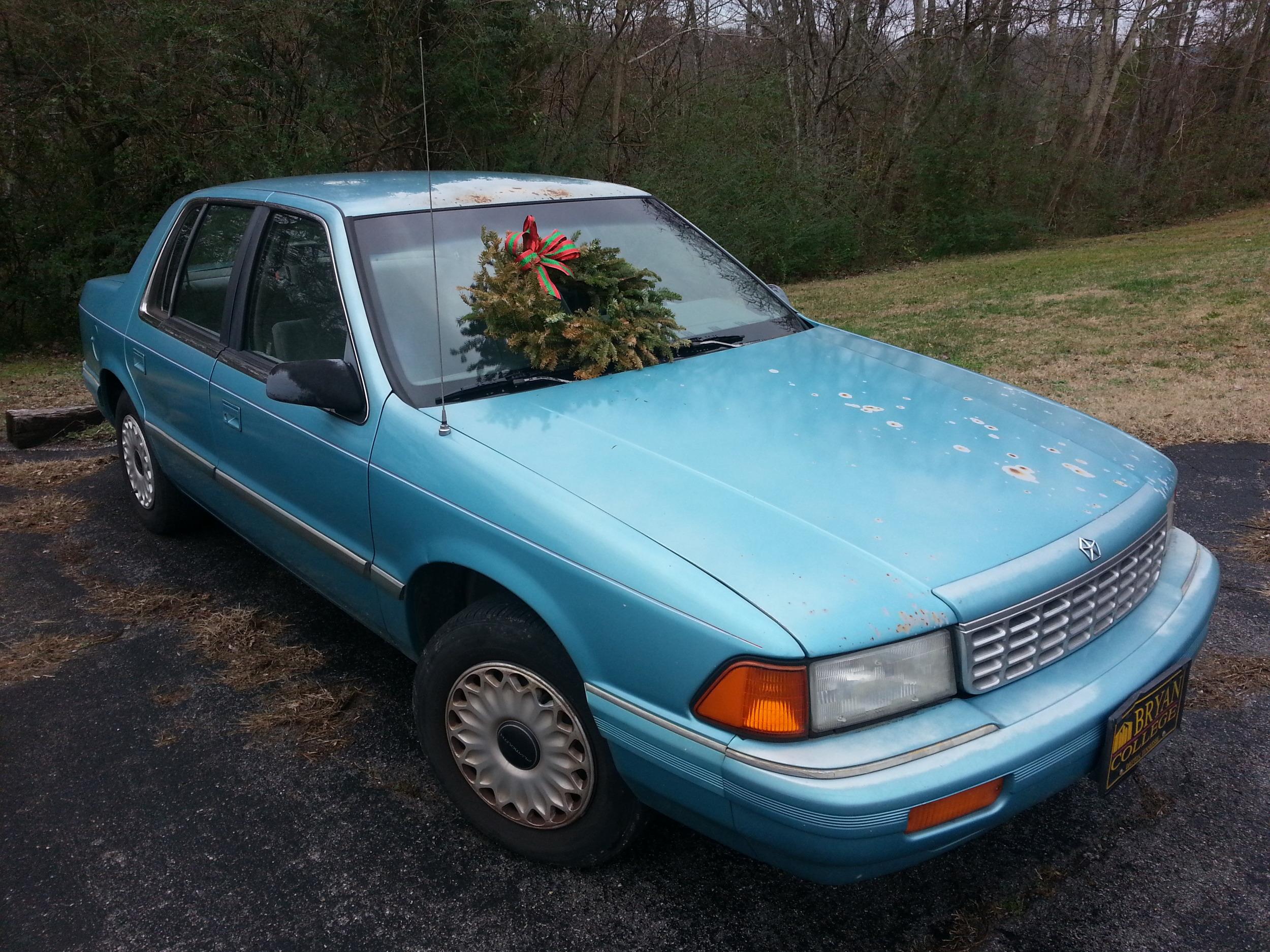 Wreath compliments of our neighbor, John.