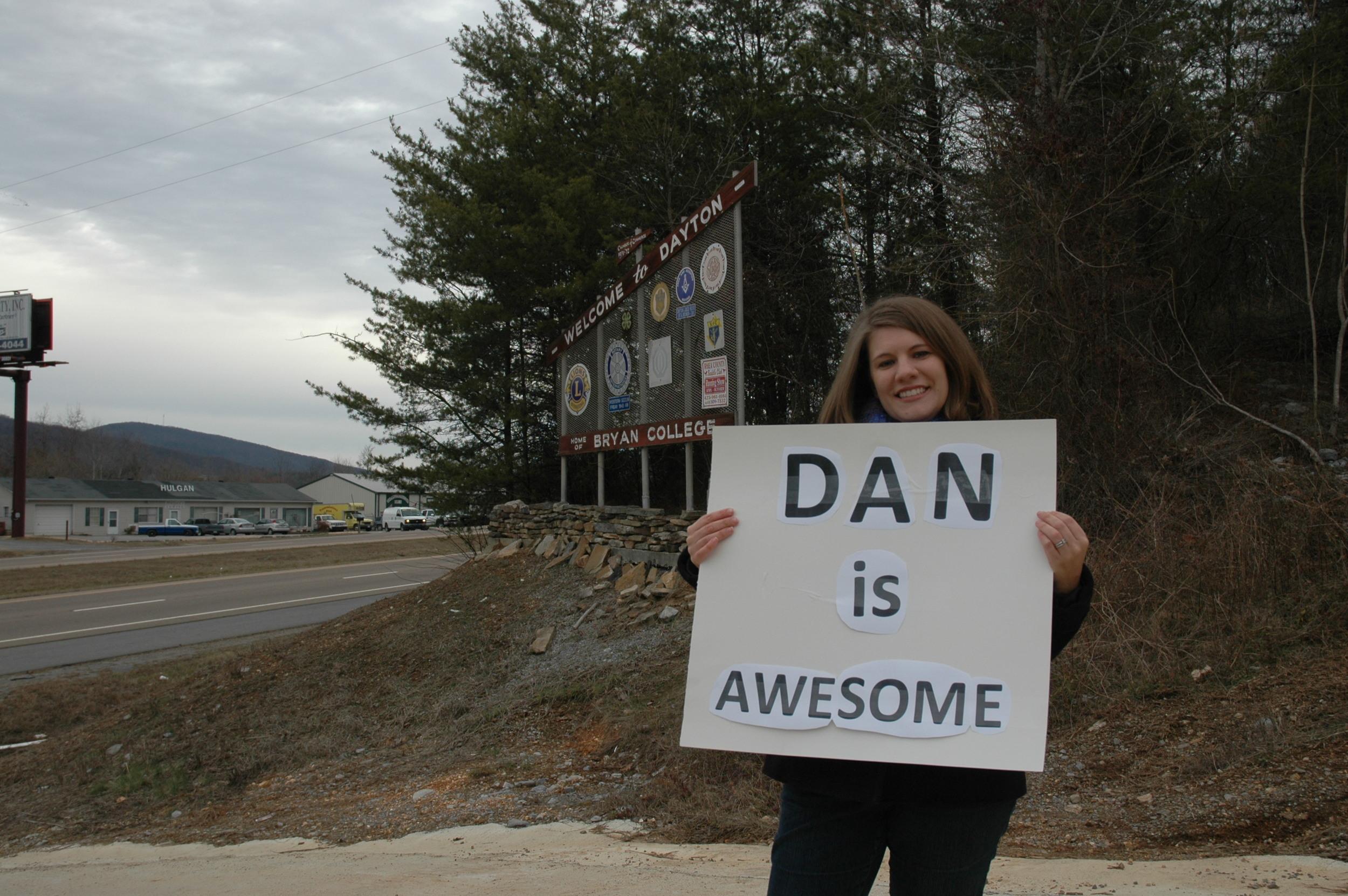 Praising Dan at the City Gate as part of my  year of biblical womanhood.