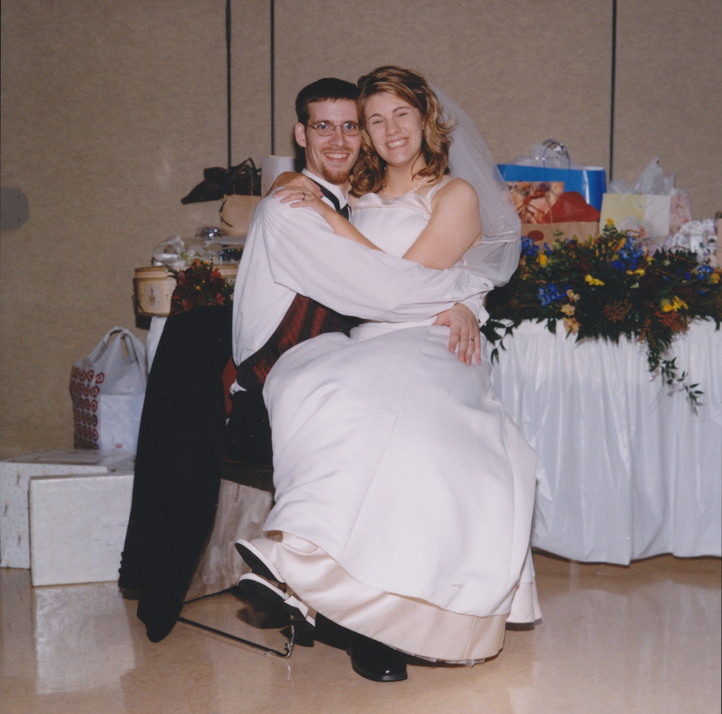 We got married before Pinterest. That's why there are no mason jars or paper cranes.