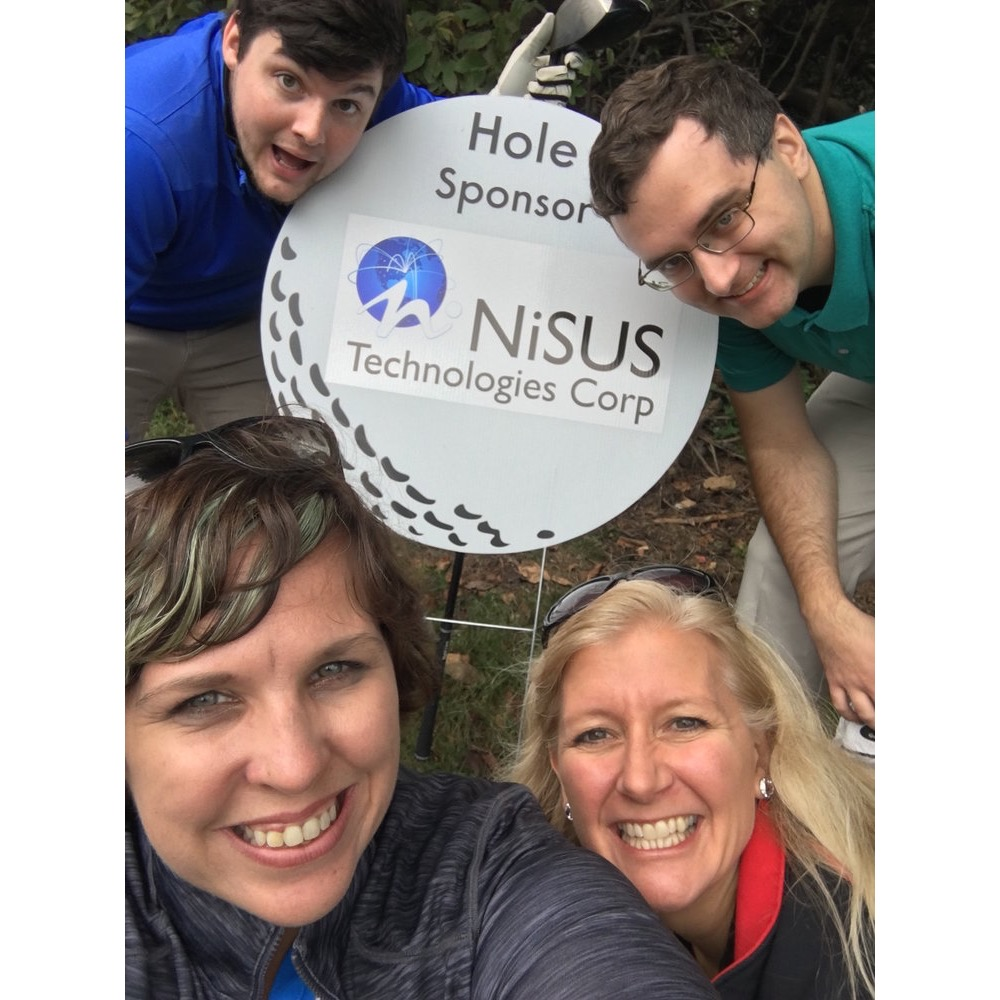 Team Nisus at Turf Valley Golf Course. This year Nisus sponsored hole 4!