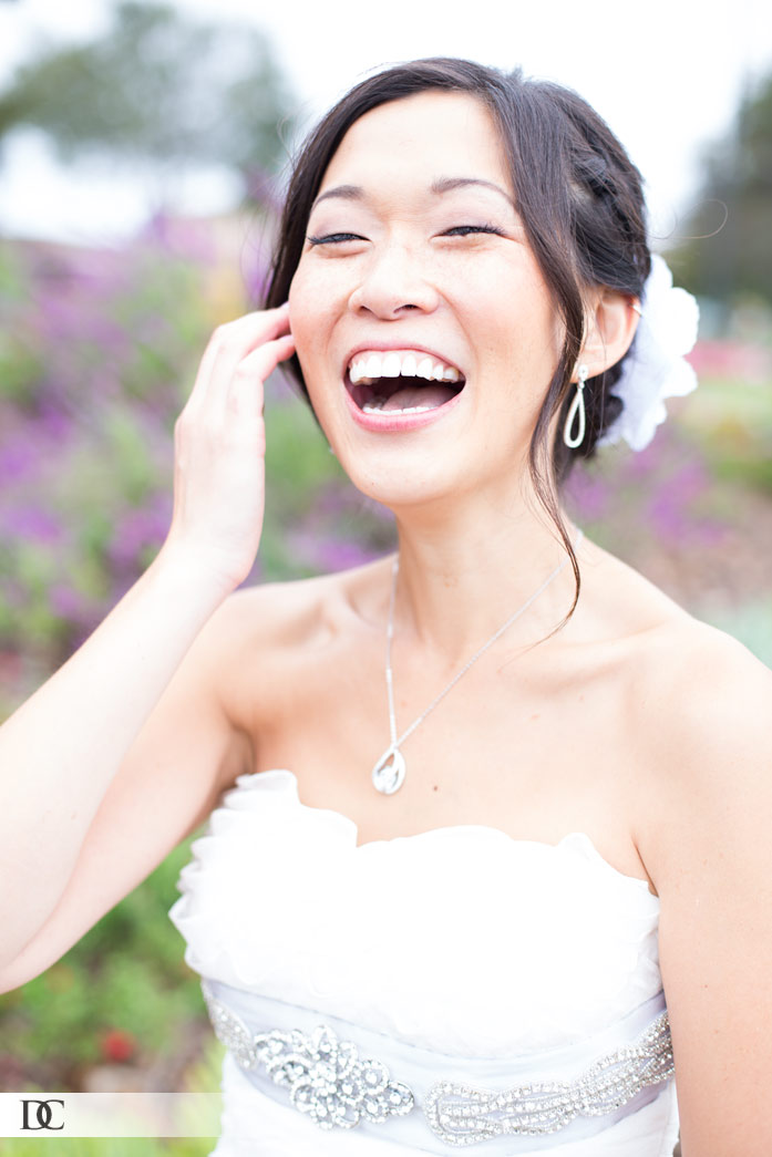 The gorgeous laughing bride.