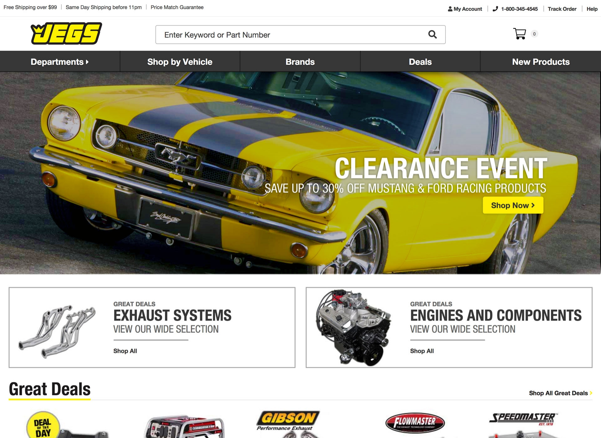 Jegs.com is the retail site for the second-largest supplier of mail order auto parts in the United States.