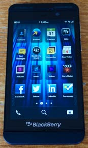 Blackberry z10 apps screen