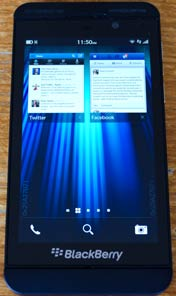 Blackberry z10 switch screen