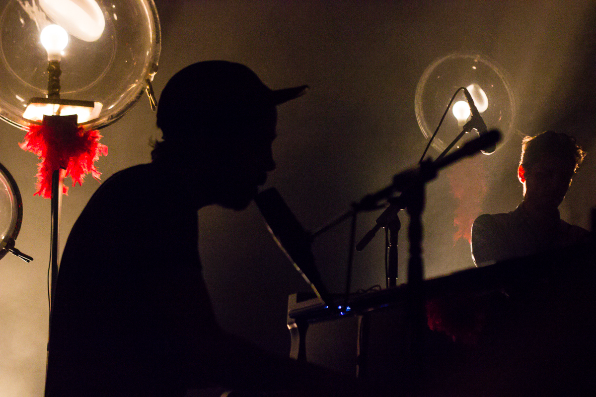 Patrick Watson hanging out in his own private universe at the 9:30 Club - 5/28/15 (photo by Kevin Hill)