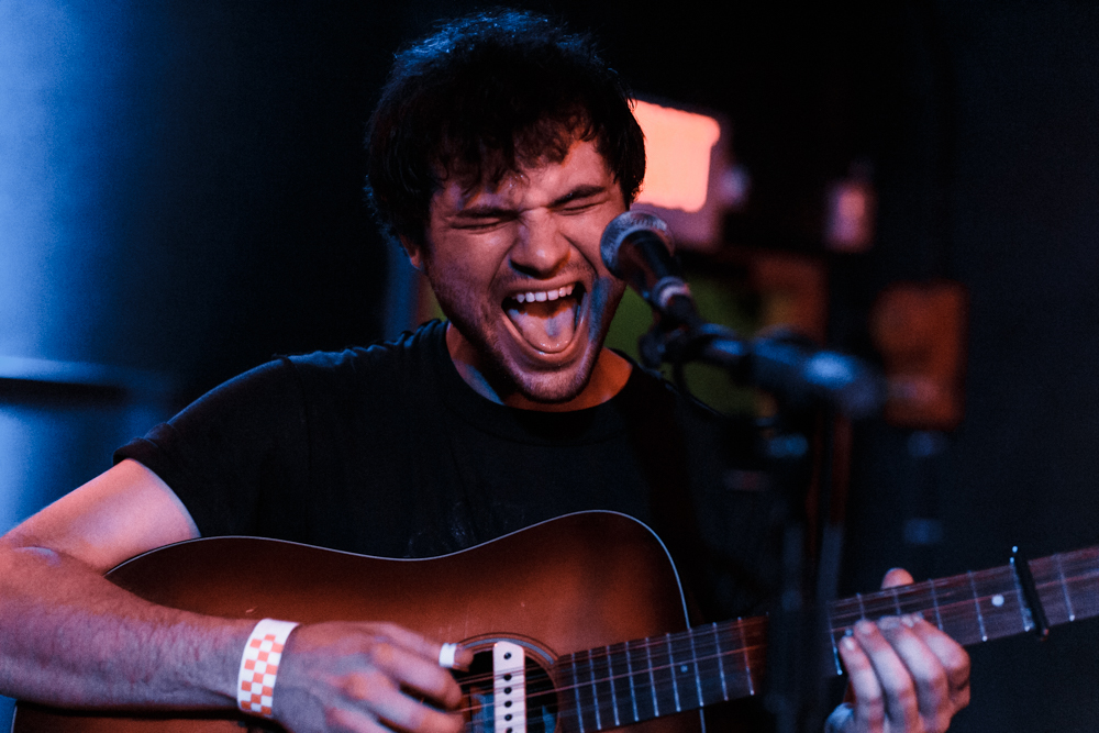 "Ryley Walker opening up for fellow ""folkie"" Jessica Pratt at the Rock and Roll Hotel - 6/25/15 (Photo by Matt Condon)"