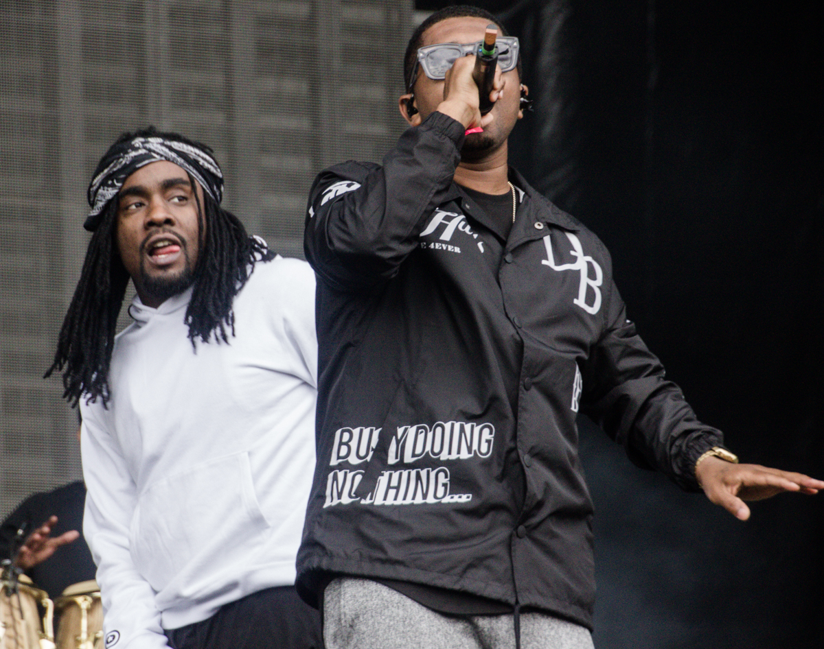 Wale performing at the 2015 Landmark Music Festival in Washington, DC - 2-26-15 (photo by Kevin Hill)