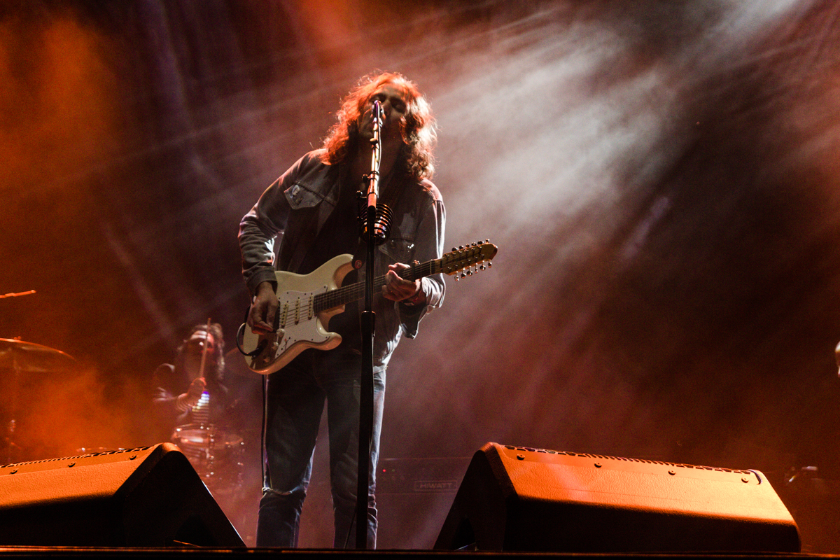 The War On Drugs performing at the 2015 Landmark Music Festival in Washington, DC - 2-26-15 (photo by Kevin Hill)