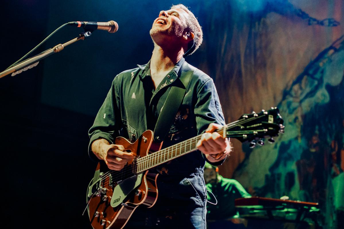 A joyful Josh Ritter performing at the 9:30 Club in Washington, DC. (photo by Matt Condon/ @arcane93 )