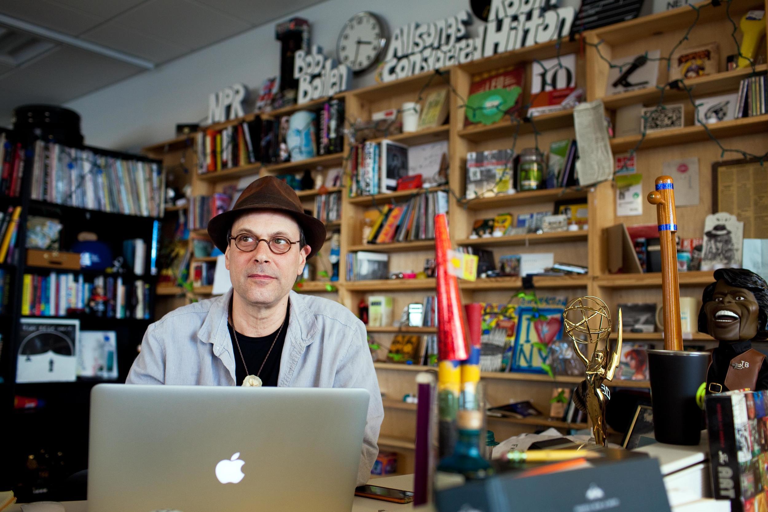 NPR's Bob Boilen at his world famous Tiny Desk (Photo credit: Meg Vogel/NPR)   All Songs Considered   Bob Boilen on Instagram   Bob Boilen Official Site