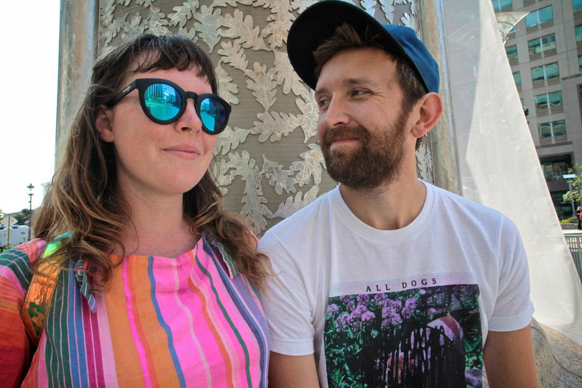 Amelia Meath and Nick Sanborn of Sylvan Esso hanging out in Downtown Raleigh before their epic headlining set. (Photo by PJ Sykes/ @pjsykes )