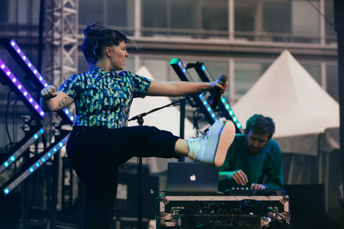 Sylvan Esso performing at All Things Go's 2016 Fall Classic in Washington, DC (photo by Mauricio Castro / @TheMauricio)