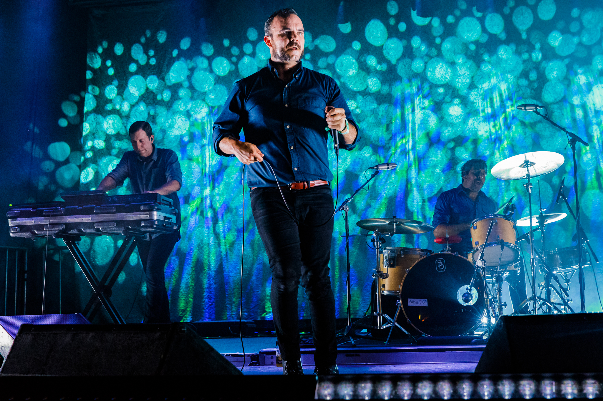 Future Islands performing at Hopscotch Music Festival 2017 in Raleigh, NC - 9/8/2017 (photo by Matt Condon / @arcane93)