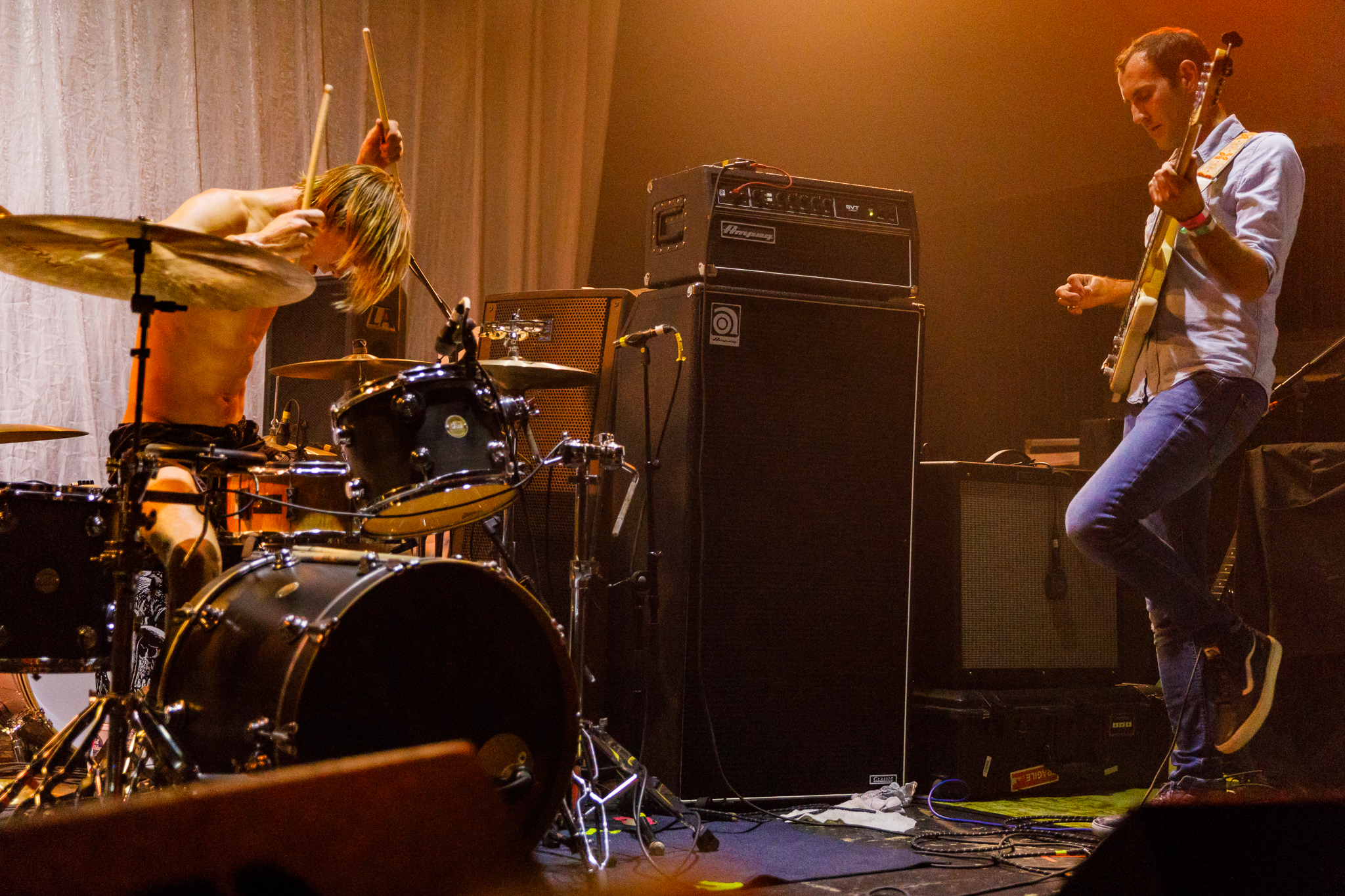 Preoccupations performing at Hopscotch Music Festival 2017 in Raleigh, NC - 9/8/2017 (photo by Matt Condon / @arcane93)