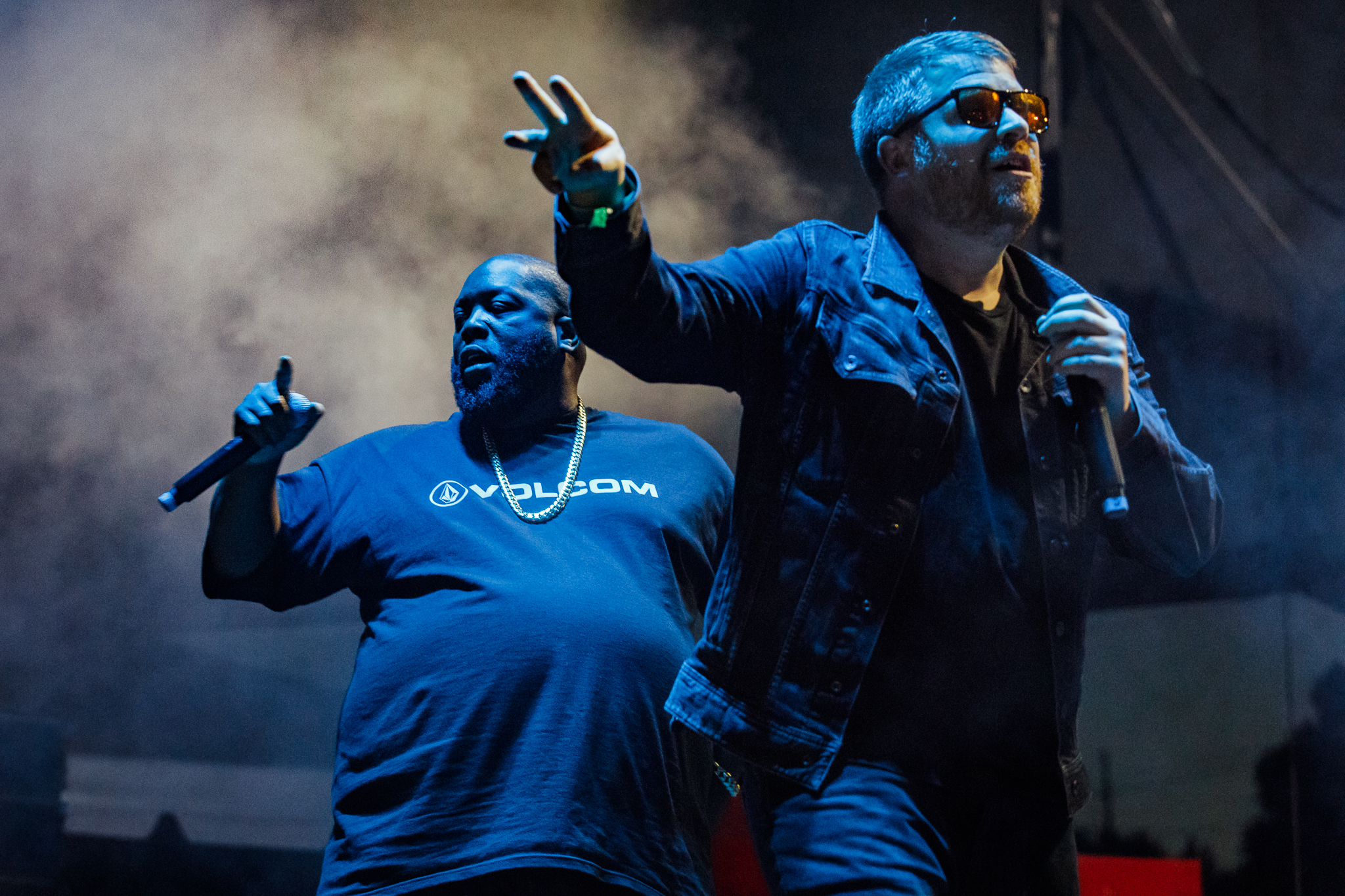 Run the Jewels performing at Hopscotch Music Festival 2017 in Raleigh, NC on September 8th, 2017 (photo by Matt Condon /  @arcane93 )