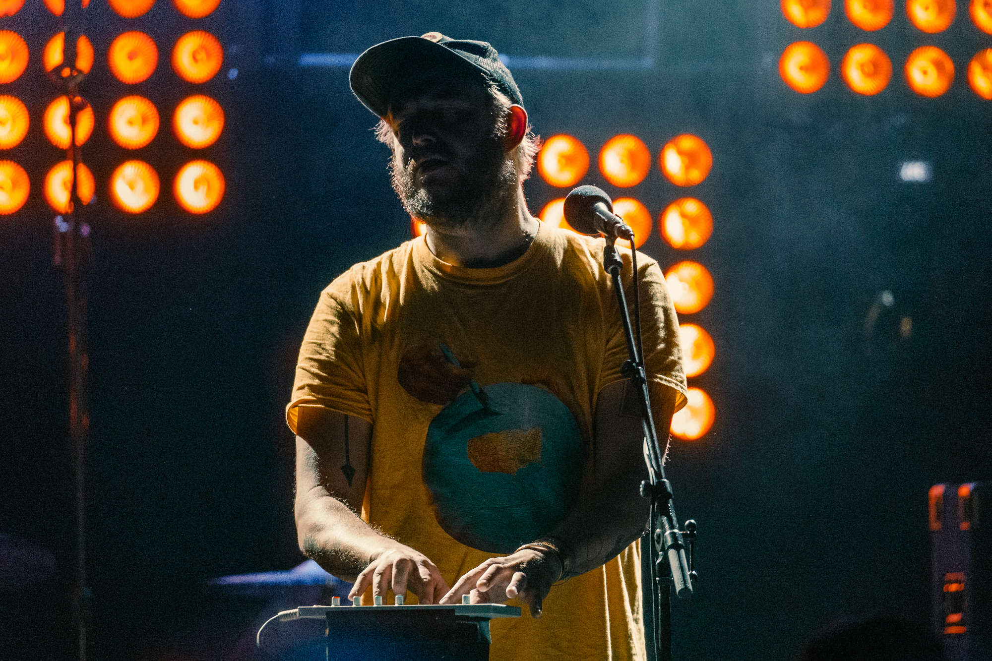 Bon Iver performing at 9:30 Club (Photo by Mauricio Castro /  @themauricio )