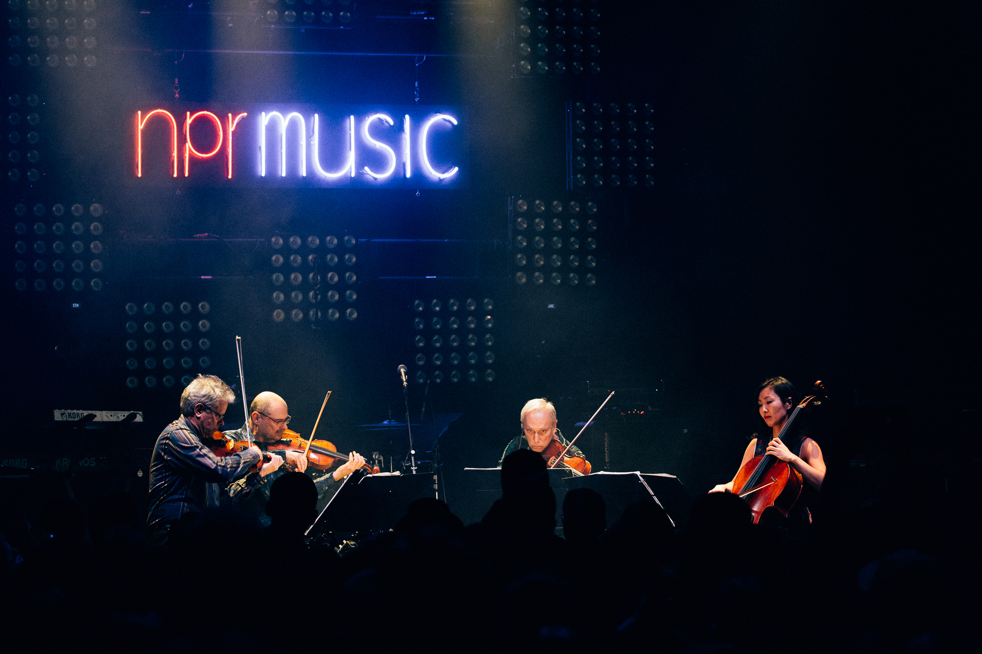Kronos Quartet at 9:30 Club (Photo by Mauricio Castro /  @themauricio