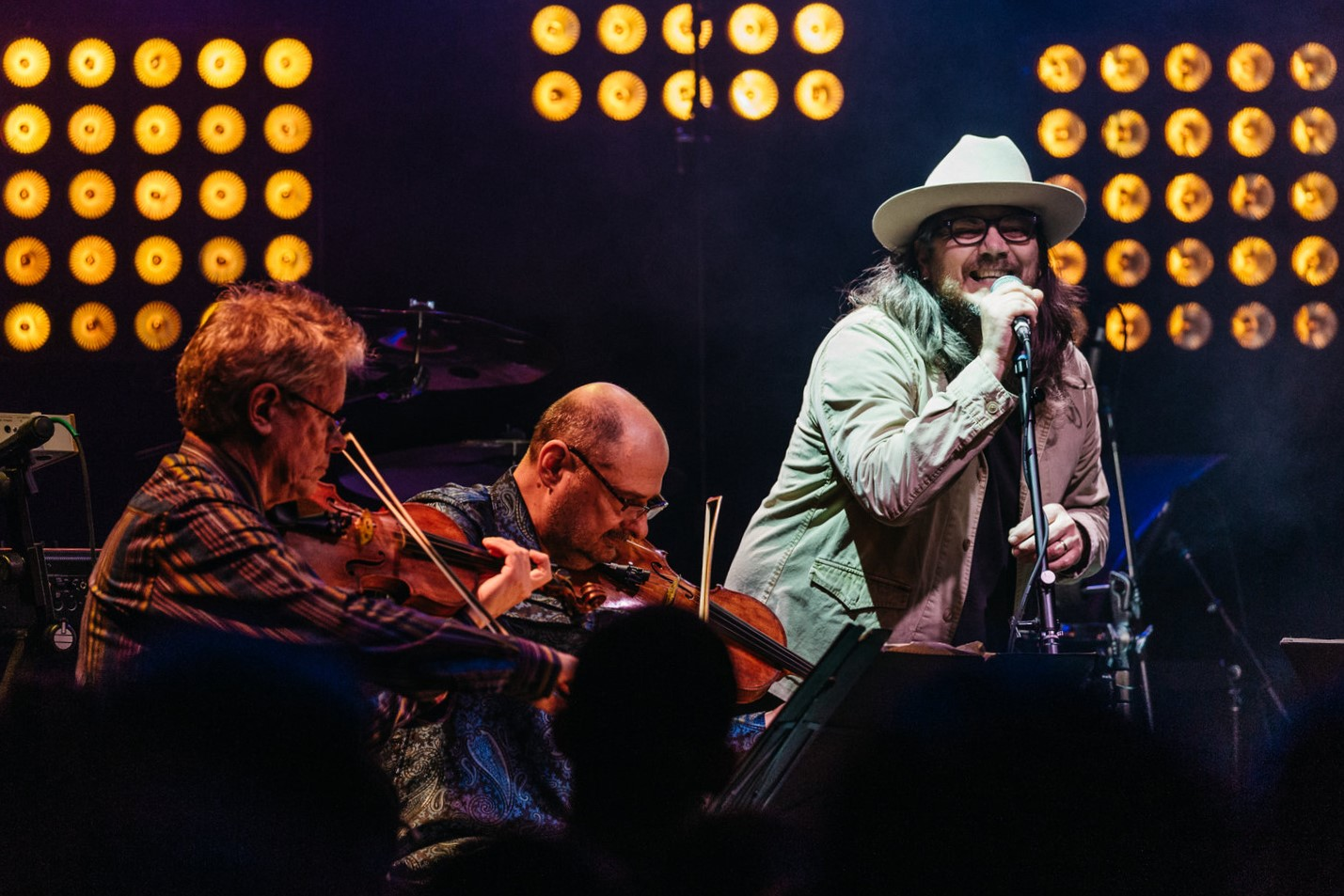 Kronos Quartet and Jeff Tweedy at 9:30 Club (Photo by Mauricio Castro /  @themauricio )