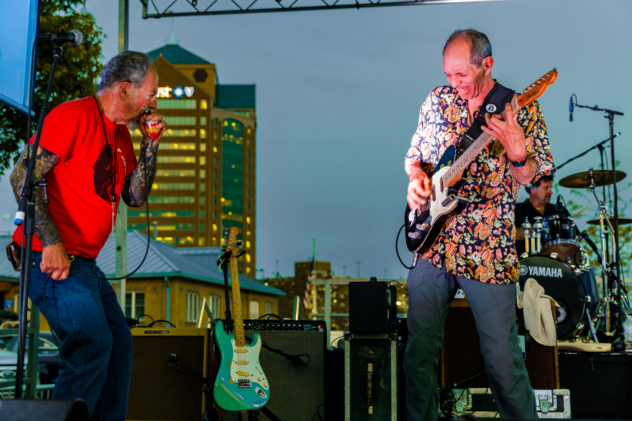 The Nighthawks performing at WTMD First Thursday at Canton Waterfront Park, Baltimore - 5/3/2018 (photo by Matt Condon / @arcane93)