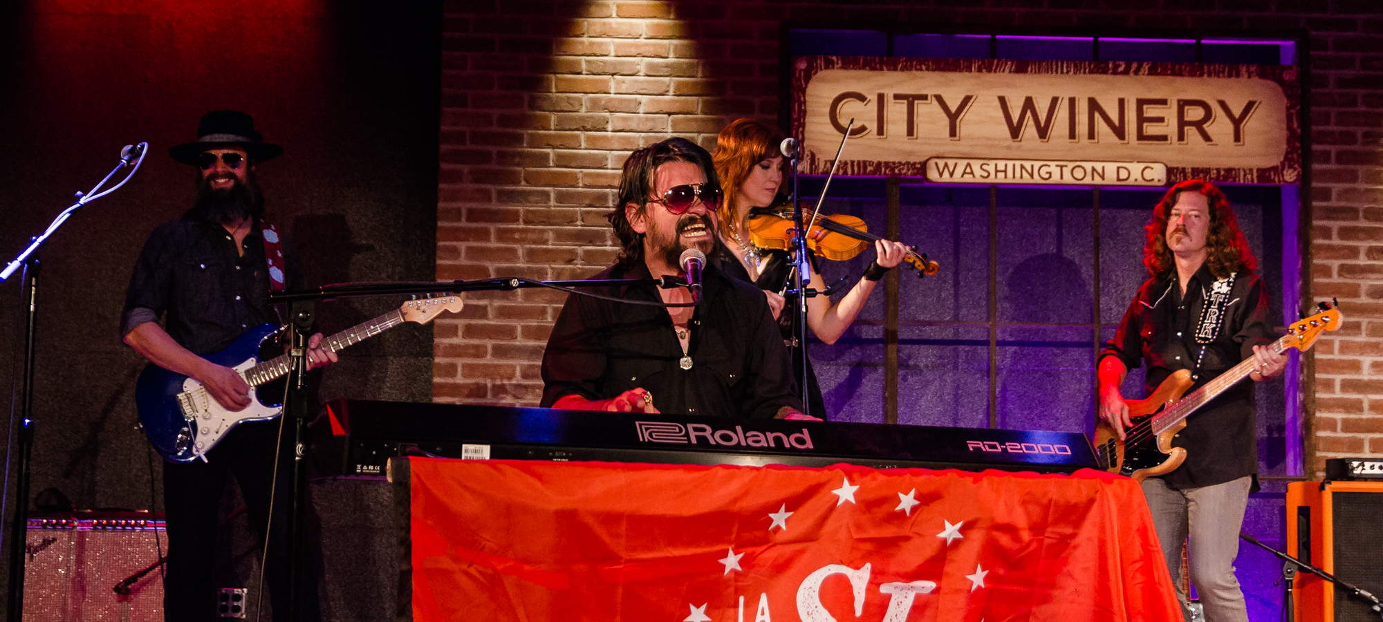Shooter Jennings and his band at City Winery in Washington, DC.(Photo by Kevin Hill /  @kcdeec )