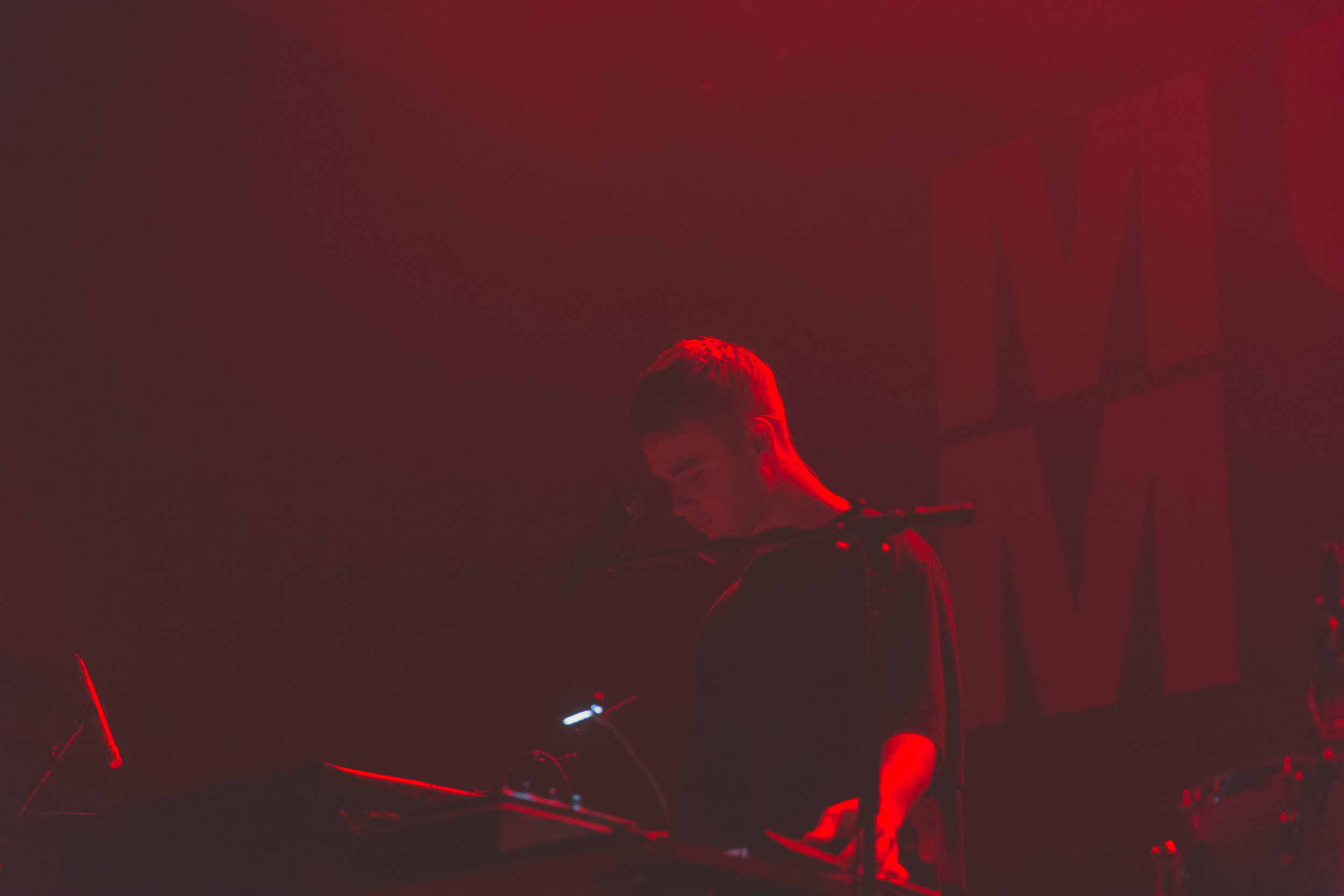 Mura Masa at 9:30 Club (Photo by Avery Junius /  @1takeace )