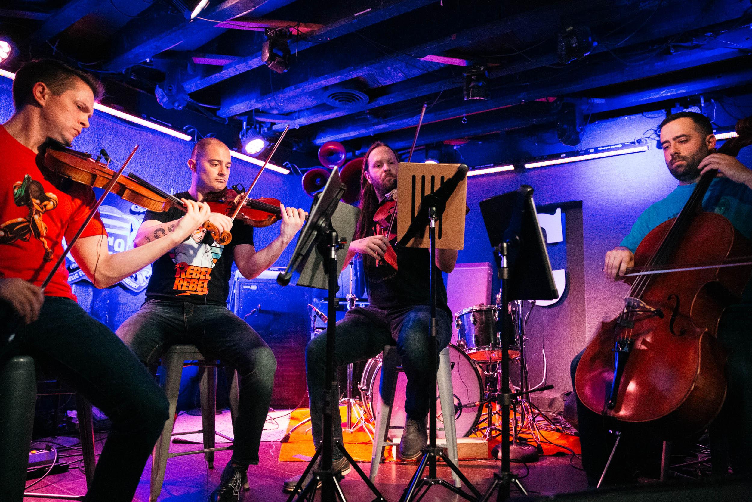 Triforce Quartet at DC9 (Photo by Mauricio Castro)