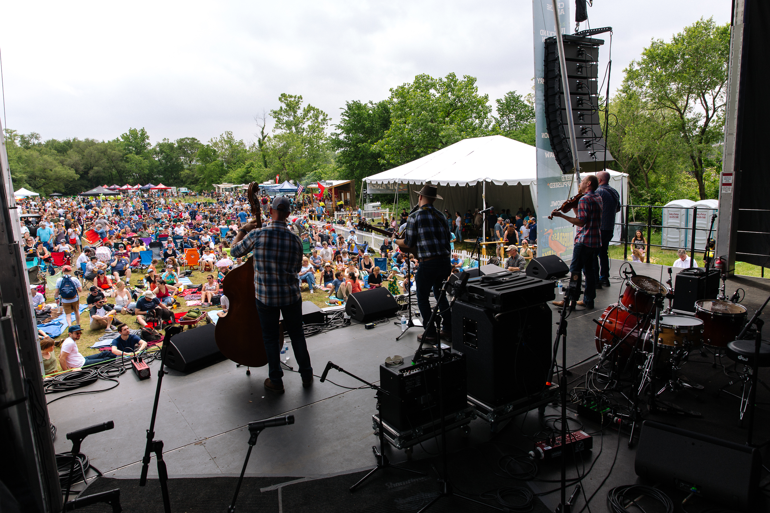 Justin Trawick & the Common Good at at Kingman Island Bluegrass & Folk Festival (Photo by Mauricio Castro)