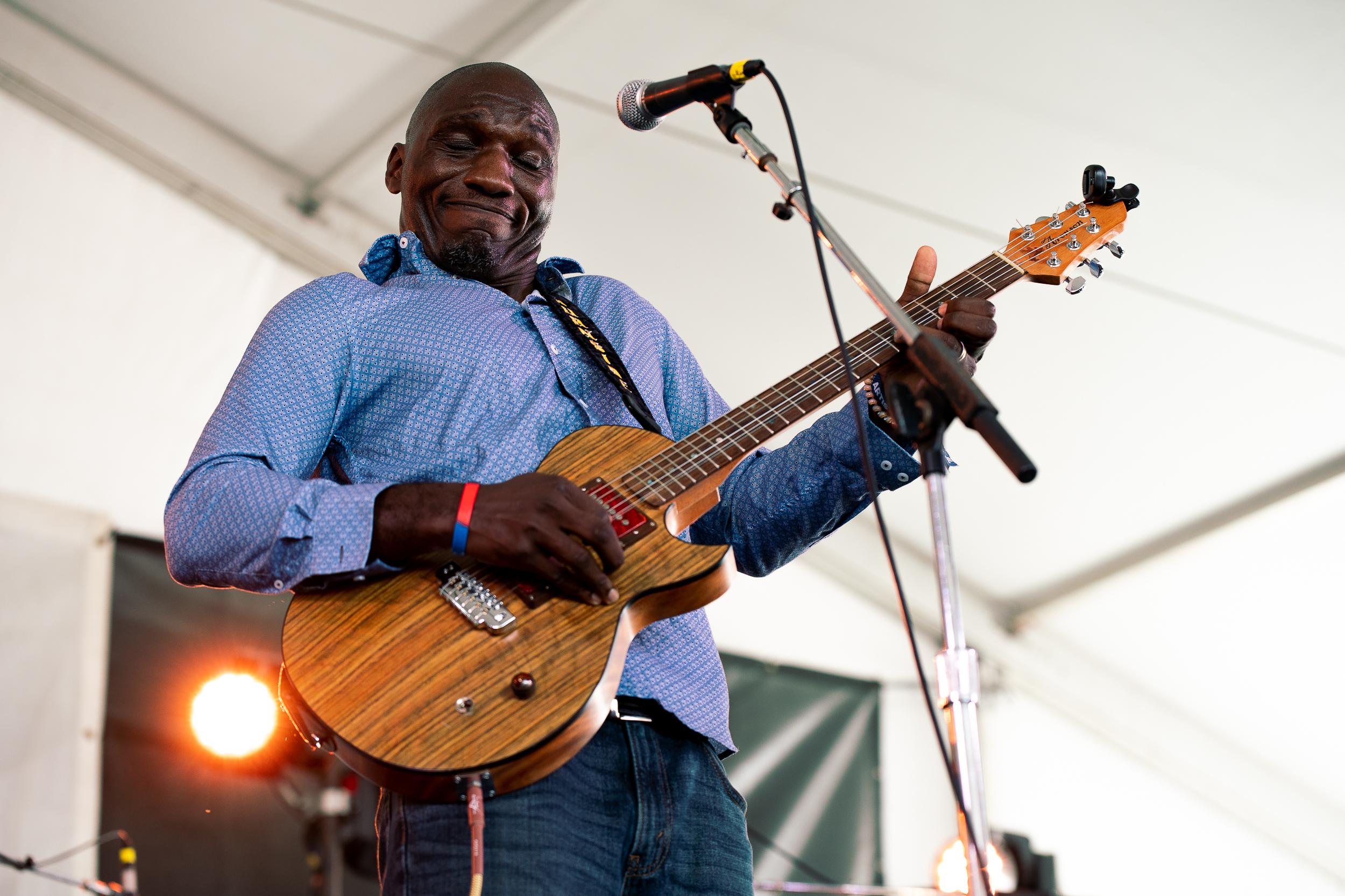 Cedric Burnside at Newport Folk Festival (Photo by Mauricio Castro)