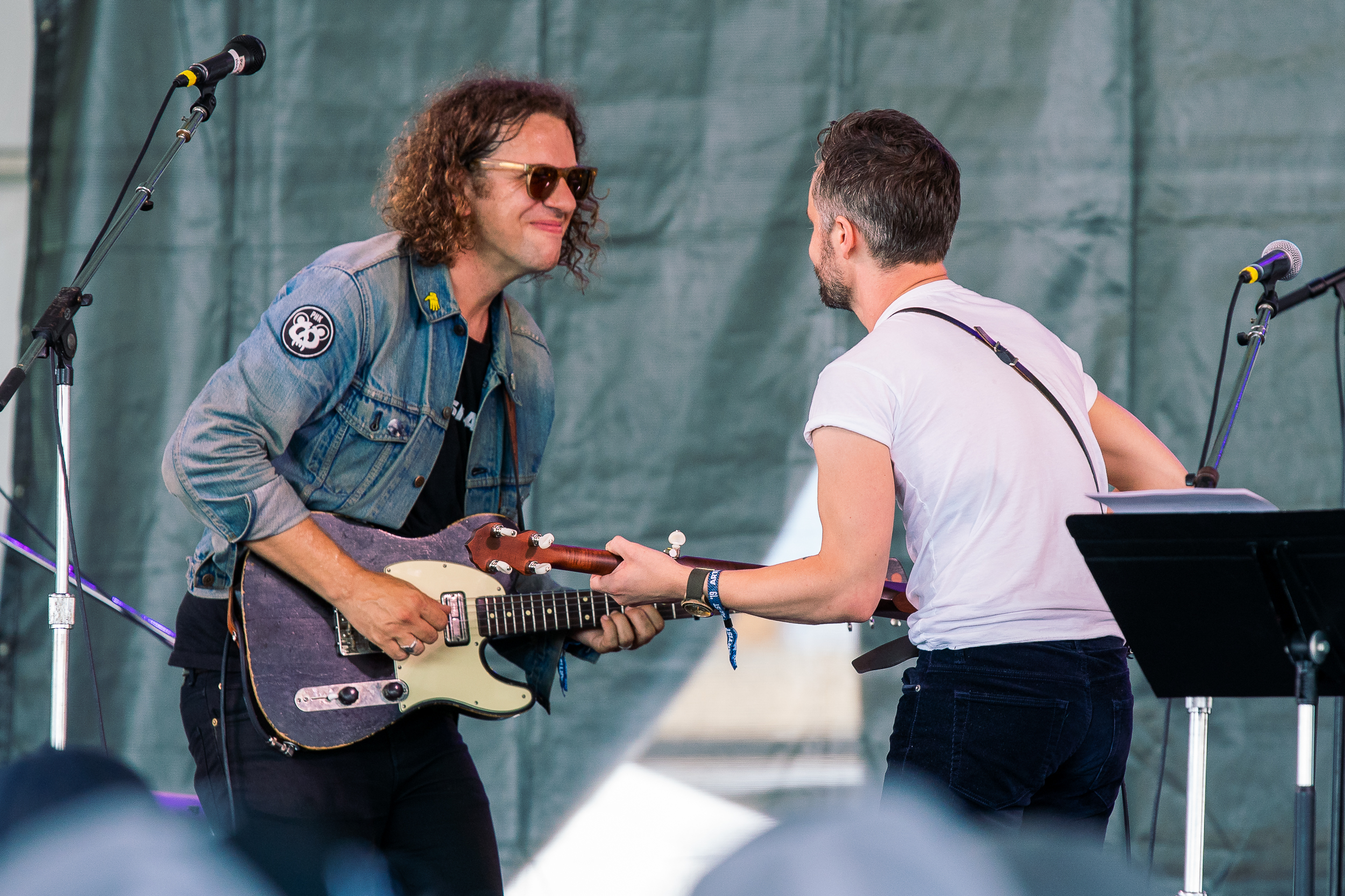 Phil Cook and The Tallest Man on Earth at Newport Folk Festival (Photo by Mauricio Castro)