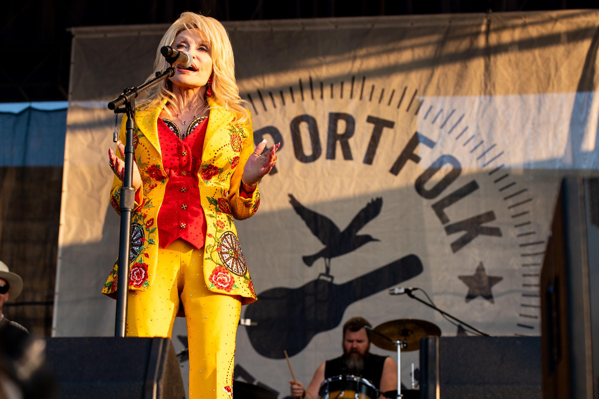 Dolly Parton at Newport Folk Festival (Photo by Mauricio Castro)