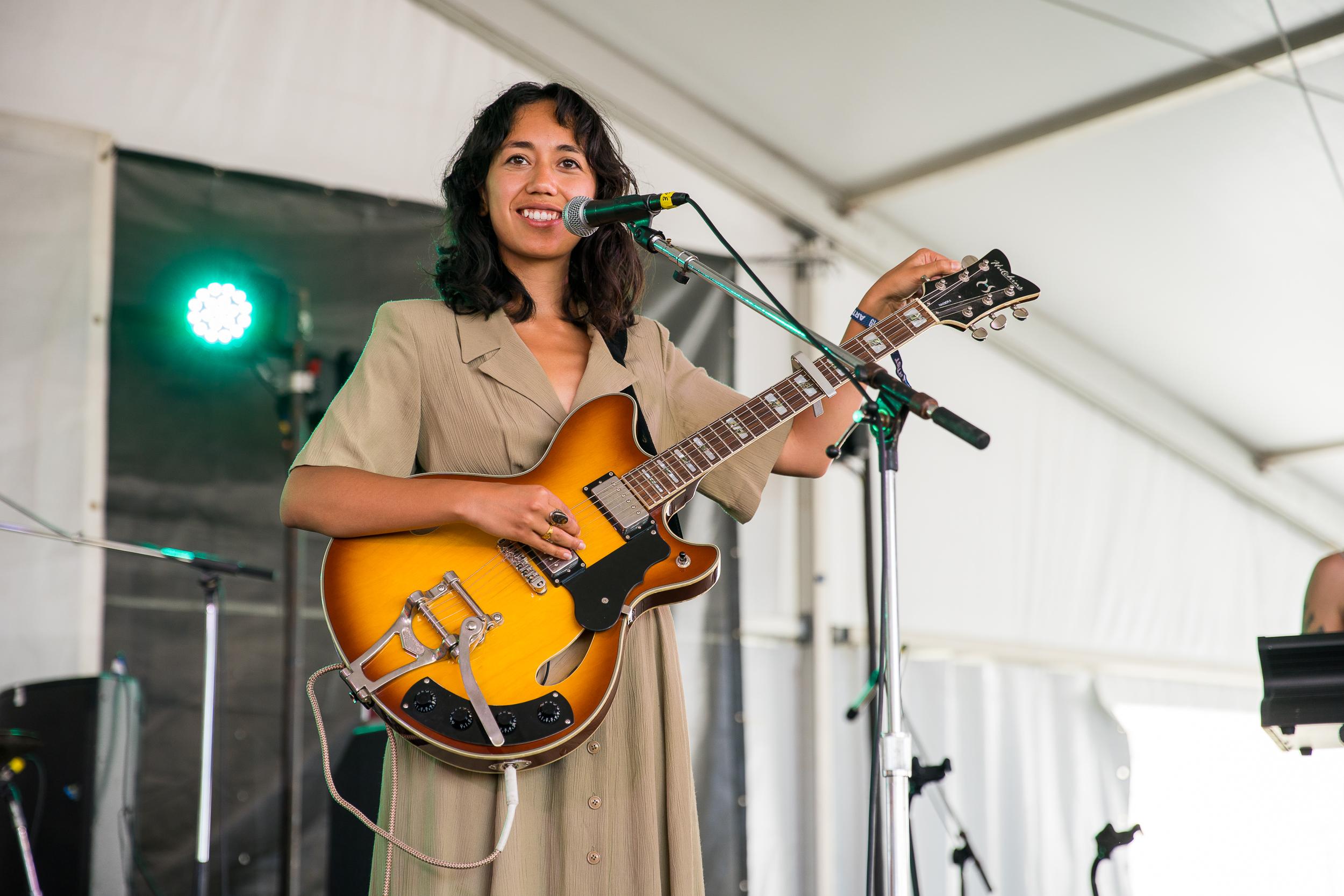 Haley Hendrickx at Newport Folk Festival (Photo by Mauricio Castro)