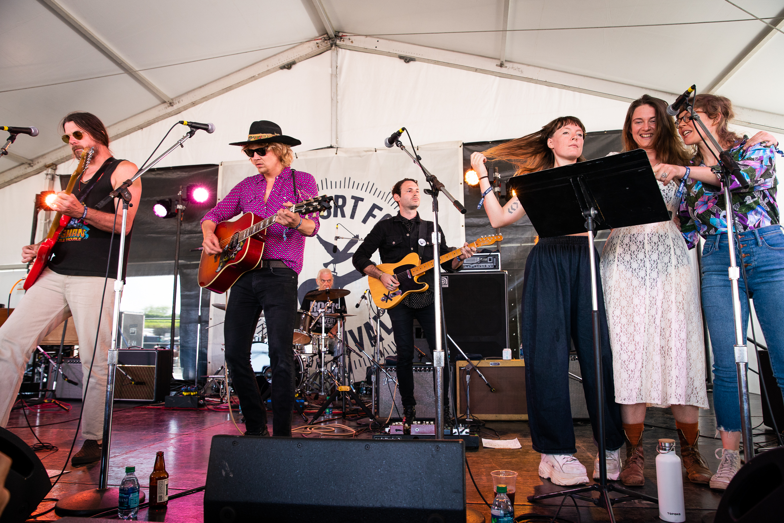 """Songs for Beginners"" at Newport Folk Festival (Photo by Mauricio Castro)"
