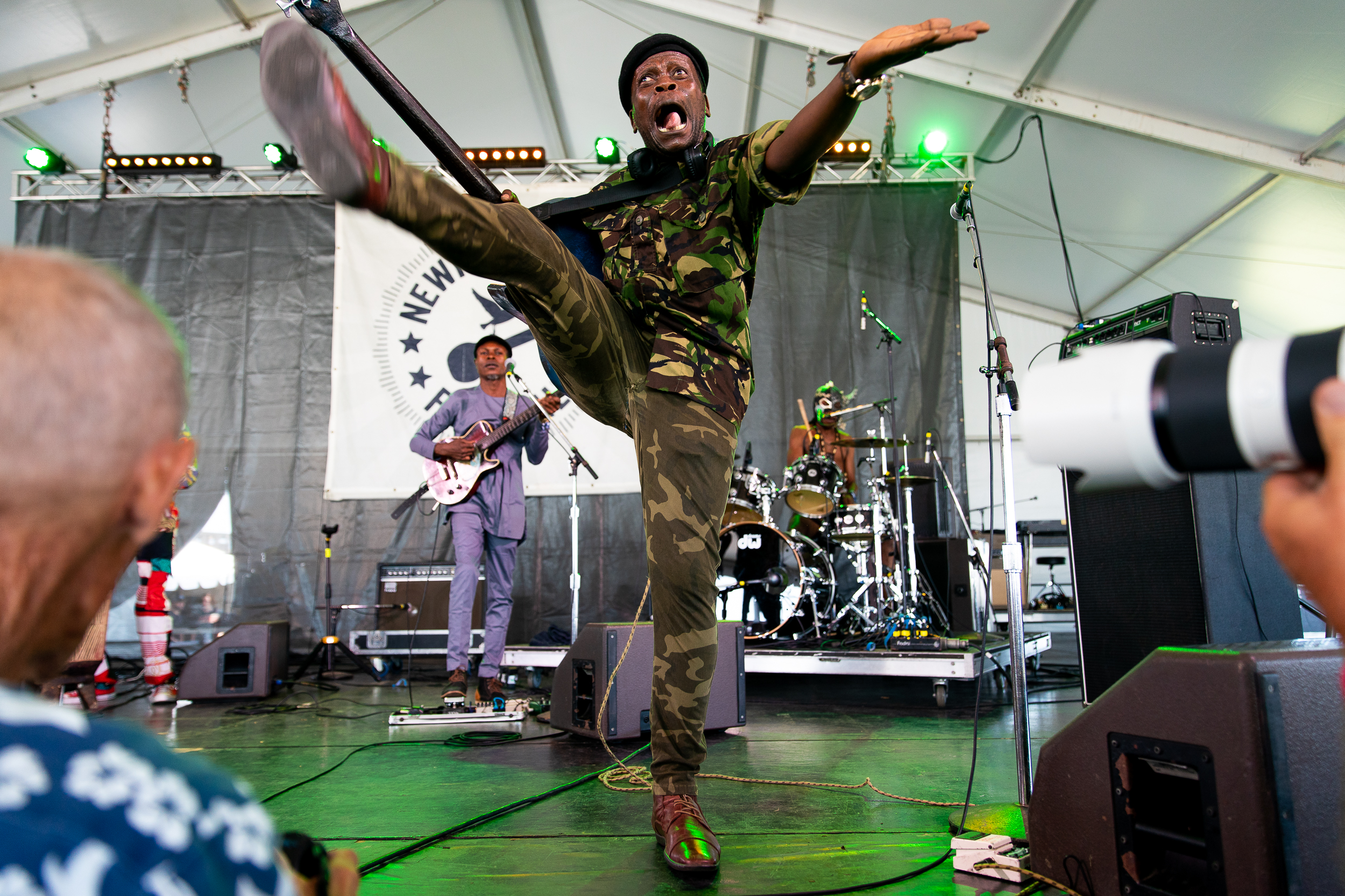 Jupiter and Okwess at Newport Folk Festival (Photo by Mauricio Castro)